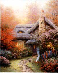 Kinkade - Autum at Ashley's Cottage