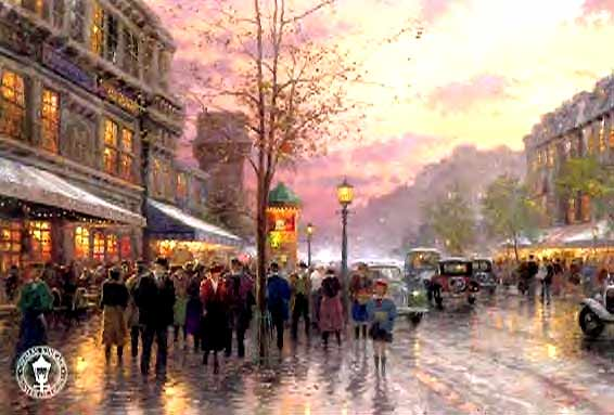Kinkade - Boulevard Lights, Paris