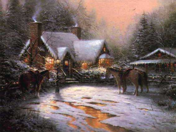 Kinkade - A Christmas Welcome