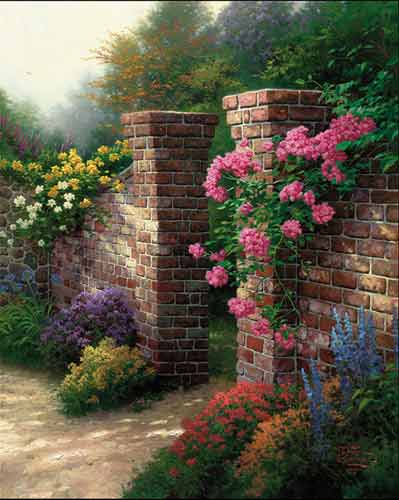 Kinkade - The Rose Garden